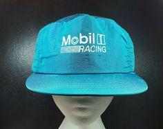 d88797ee0 Vintage Mobil 1 Racing Snapback Hat Cap Cool Hats, Vintage Hats, Snapback  Hats,