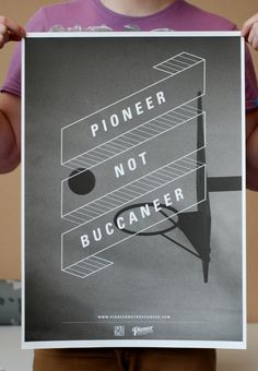 Pioneer not Buccaneer on the Behance Network