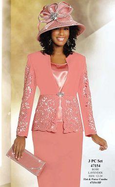 Ben Marc International Womens 3pc Cutwork Church Suit 47154