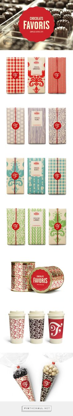 Chocolats Favoris by lg2boutique. Pin curated by SFields99. #packaging #design