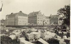 Aleje Mickiewicza - budynki Szkoły Przemysłowej, fot. po 1912 Krakow, Planet Earth, Old Photos, Poland, Planets, Louvre, Building, Painting, Travel