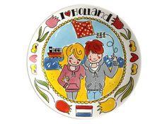Bord Plat 26cm Strand I love Holland Blond Amsterdam