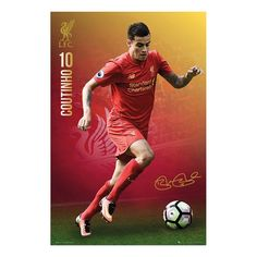 Liverpool FC Philippe Coutinho 2016 - 2017 Poster   iPosters