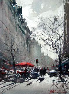 Joseph Zbukvic watercolor #watercolorarts