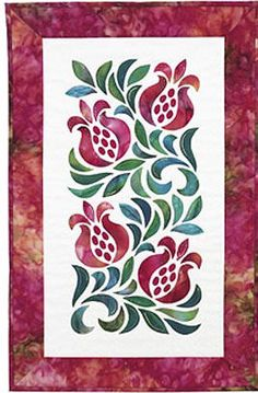 First Fruits Stained Glass Quilt Pattern