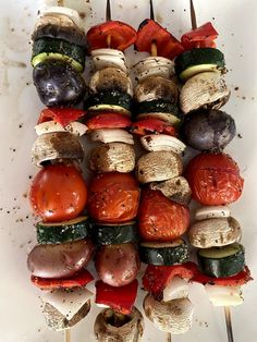 Without a doubt, I love grilling! Since becoming plant-based, I have a new appreciation for grilled vegetables, especially grilled vegetable kabobs. Vegan Kabobs, Grilled Vegetable Kabobs, Marinated Vegetables, Yummy Vegetable Recipes, Kabob Recipes, Vegan Recipes, Actifry Recipes, Teriyaki Tofu, Yum Yum Sauce
