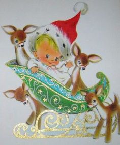A Vintage Christmas with Mickey O'Toole Christmas Card Images, Vintage Christmas Images, Christmas Graphics, Old Fashioned Christmas, Christmas Scenes, Christmas Deer, Christmas Animals, Retro Christmas, Vintage Holiday
