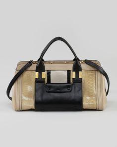 Chloe – Alice Small Satchel Bag, Sand | Womens Pin
