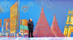 Solving one Rubik's Cube is no easy task, but putting together 85,794 of them to create a giant mural is even harder.