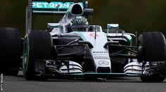 Nico Rosberg testing the 2015 Mercedes