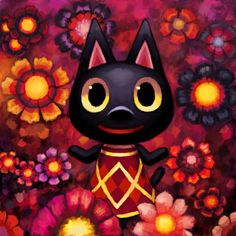Animal Crossing: Kiki by Cortoony on DeviantArt Animal Crossing Cats, Animal Crossing Characters, Animal Crossing Villagers, Animal Crossing Pocket Camp, Maya, Video Game Anime, Video Games, Folk, Cross Art