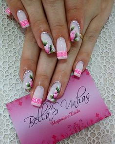 Glam Nails, Stiletto Nails, Toe Nails, Flower Nail Designs, Cool Nail Designs, Cute Spring Nails, Summer Nails, Finger, Manicure Y Pedicure