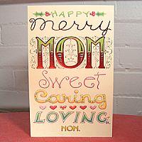Happy Merry Mom - Christmas Card