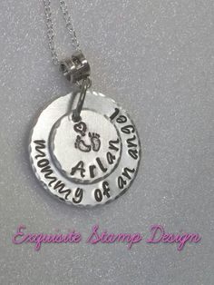 Infant Loss Jewelry  Sympathy Gift  Mommy by ExquisiteStampDesign