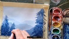 How to paint a simple landscape for beginners  art tutorials water color - YouTube