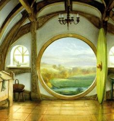 Hobbit Hole by Alan Lee(?)