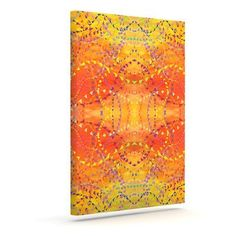 KESS InHouse 'Sunrise' by Nikposium Graphic Art on Wrapped Canvas Size: