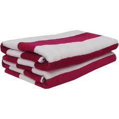 Mainstays Cabana Stripe Beach Towels, 2-Pack