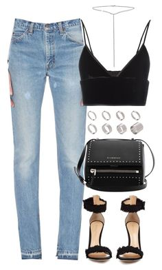 """Untitled #4065"" by lily-tubman ❤ liked on Polyvore featuring RE/DONE, Gianvito Rossi, T By Alexander Wang, Givenchy, ASOS and Bling Jewelry"