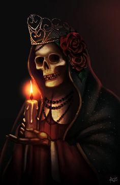 La Santa Muerte  Support me!: https://www.facebook.com/adryrdzart http://http://audreyrdz.tumblr.com/