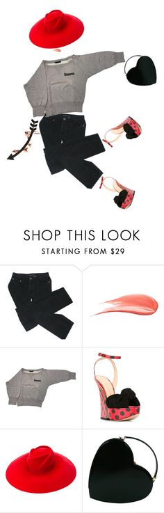"""""""IT!"""" by maria-laura-correa-da-silva ❤ liked on Polyvore featuring Marc by Marc Jacobs, Hourglass Cosmetics, Dsquared2, Charlotte Olympia, Gucci, Moschino and Wild Hearts"""