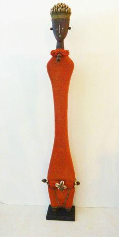 "Superb African Art LG Namji Doll Cameroon 33""H"