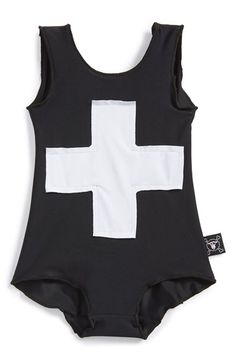 d2c6bd9a30a7b3 NUNUNU Cross Swimsuit (Baby Girls) available at #Nordstrom Hipster Baby  Clothes, Cute