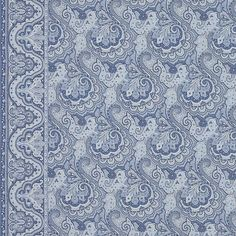Brinley Paisley - Blue - Balmoral Paisleys - Fabric - Products - Ralph Lauren Home - RalphLaurenHome.com