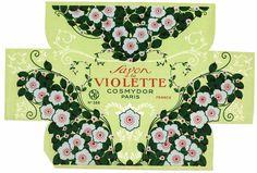 SAVON a la VIOLETTE Vintage Paris Box Label