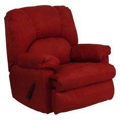 Flash Furniture Montana Microfiber Suede Rocker Recliner Garnett - WM-8500-265-GG, Durable