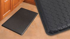 GelPro Plush Basketweave Black Gel Mats - GelPro Plush is the ultra-premium comfort floor mat especially for those suffering from back pain, foot and leg pain, plantar fasciitis, osteoporosis or even arthritis. Each mat is specially engineered with a patented gel core reinforced with an extra layer of supportive foam for added luxury and therapeutic benefits. #Mat #Comfort #Kitchen