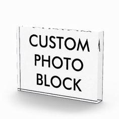 #createyourown #customize - #Custom Personalized Photo Block Blank Template