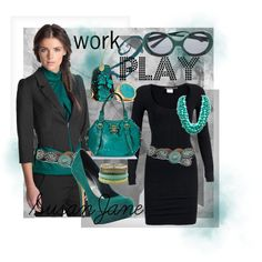 work 2 play, created by susan-lawrence-garcia.polyvore.com