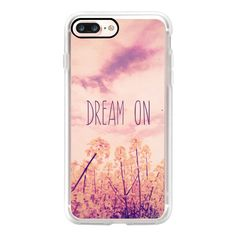 """Purple Pink Clouds Summer Sky Wild Flowers """"""""Dream On"""""""" - iPhone 7... (2.235 RUB) ❤ liked on Polyvore featuring accessories, tech accessories, iphone case, apple iphone case, iphone cases, pink iphone case, purple iphone case and slim iphone case"""