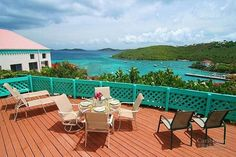 Battery Hill luxury suites in Cruz Bay near the harbor. All are 2-bedroom 1 bath units with amazing views! #virginislands #cruzbay