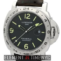Officine Panerai Luminor GMT Special Re-Edition 44mm iN Stainless Steel With A Black Tuxedo Dial Circa 2010 (PAM 29 M)