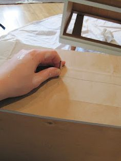 Good tutorial on making a template for placing knobs and pulls on a dresser