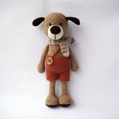 PDF Max the Dog Crochet Pattern - Crocheted Doggie, Puppy DIY tutorial