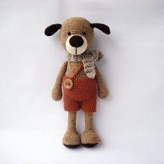 PDF Max the Dog Crochet Pattern - Crocheted Doggie, Puppy DIY tutorial