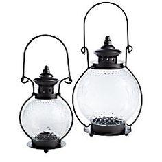Clear Glass Sunburst Lanterns