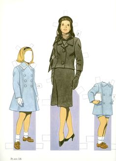 """""""John F. Kennedy and His Family"""" paper dolls."""