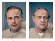 Taschen presenta The Godfather Family Album - Marlon Brando Before and After His Makeup Was Done for His Role in the Godfather