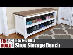 DIY Adjustable Shoe Storage Bench | FixThisBuildThat