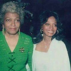 Diana Ross with her mother Ernestine Ross.