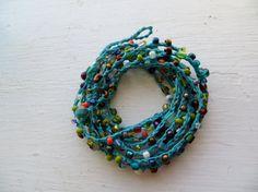 Color Wheel Versatile crocheted necklace / bracelet by FleasKnees, $15.00