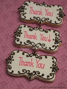 thank you cookies - I like the outline. Need stamps!