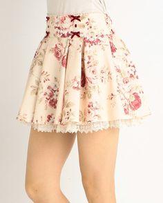 picture of LIZ LISA Floral Sukapan Skirt 1