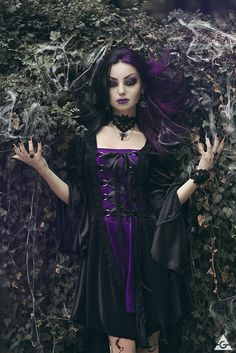 "aurora-nordstern: "" #gothic #women #faces #makeup Model, MUA: Darya Goncharova…"