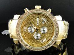 New Mens Jojo/Jojino/Joe Rodeo Gold Metal Genuine Real Diamond Watch MJ1100