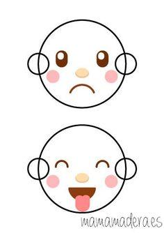Caras de emociones para descargar - MamaMadera.es Emotion, Reggio Emilia, Light Table, Mom And Baby, Free Printables, Hello Kitty, Scrap, Baby Shower, Activities